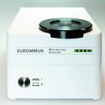 Microarray Scanner for fully automated evaluation of the molecular test system.