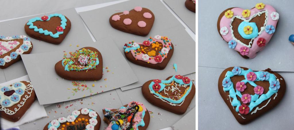 Die Kreativen und Kleinen unter den Oktoberfestlern können leckere Lebkuchenherzen individuell verzieren.