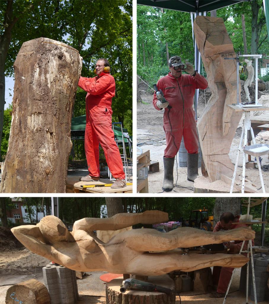 "Roman Krasnitsky erschafft eine Skulptur unter dem Namen ""Angara""."
