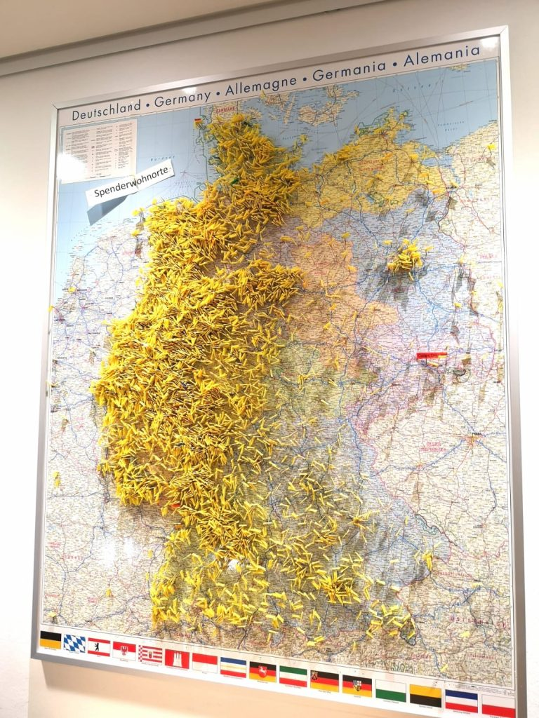 Die Verteilung der DKMS-Stammzellenspender in Deutschland